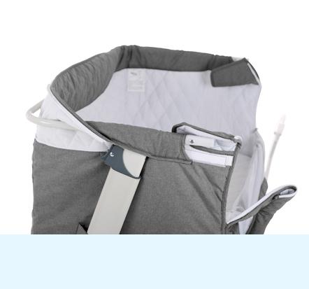 babybett baby beistellbett reisebett incl matratze grau beige angebotspreis ebay. Black Bedroom Furniture Sets. Home Design Ideas